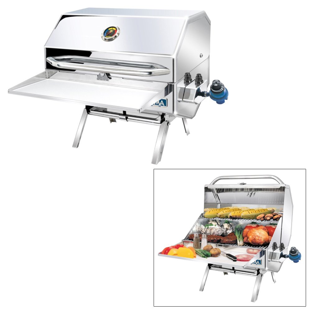 Magma Products, A10-1218-2 Catalina 2 Gourmet Series Gas Grill, Polished Stainless Steel by Magma Products