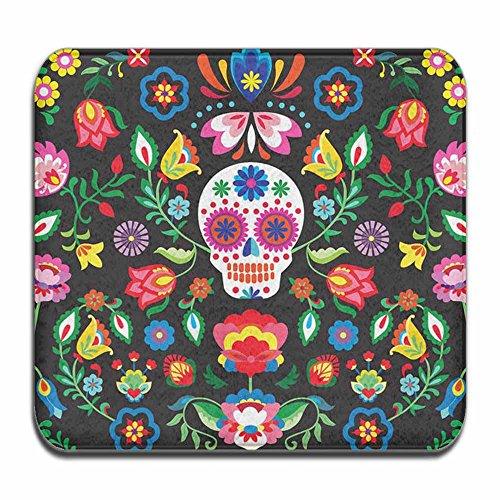 SWEET TANG Entrance Rug Floor Mats Mexican Sugar Skulls Day of the Dead Flowers Washable Indoor/Outdoor Low Profile Doormat Shoe Scraper Doormat (24