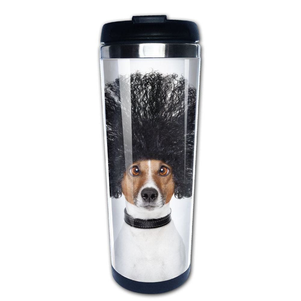 Kooiico Bad Hair Day Dog Ready To Look Beautiful At The Wellness Spa Salon Isolated On White Background Coffee Mug Thermal Cup Drinkware With Easy Clean Lid 14-Ounce Mug