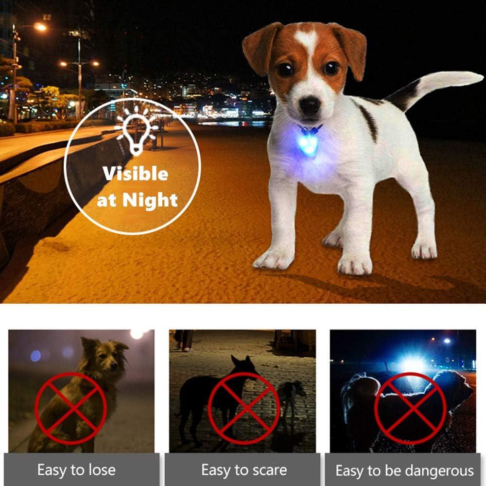 Adjutable cuello con Bell Pack de 6/Mascotas Cachorro de perro gato Huellas de roscas