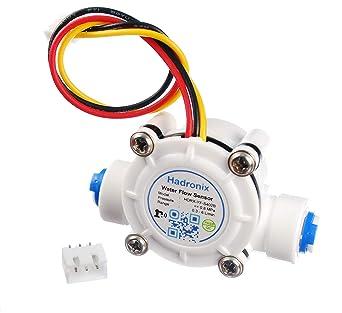 Hadronix 1/4 Quick-Connect Food-Grade Water Flow Meter Hall