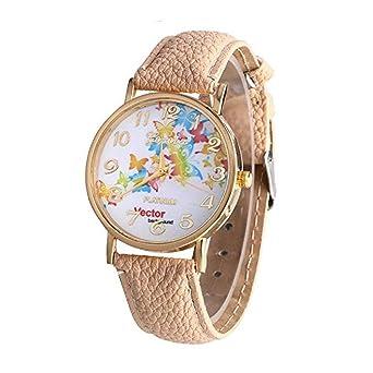 Relojes de Mariposa para Mujeres, Relojes de señora analógicos únicos de Moda Relojes Femeninos a