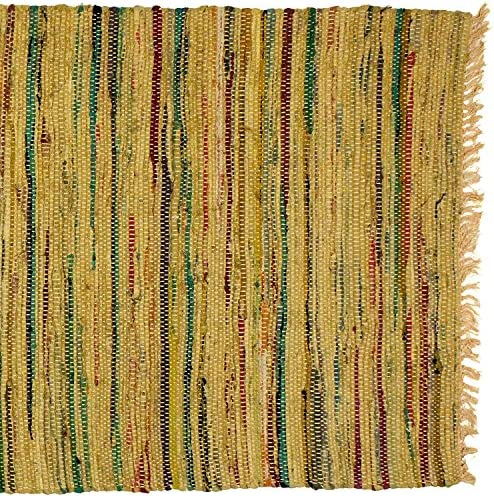 Sturbridge Country Rag Rug in Mustard 30 x 50