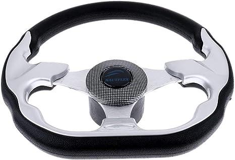 "Boat Steering Wheel 310mm Black Sports Wheel Wih Standard 3//4/"" Tapered Shaft"