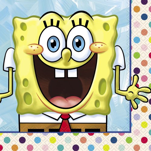 SpongeBob SquarePants Party Napkins, 16ct -