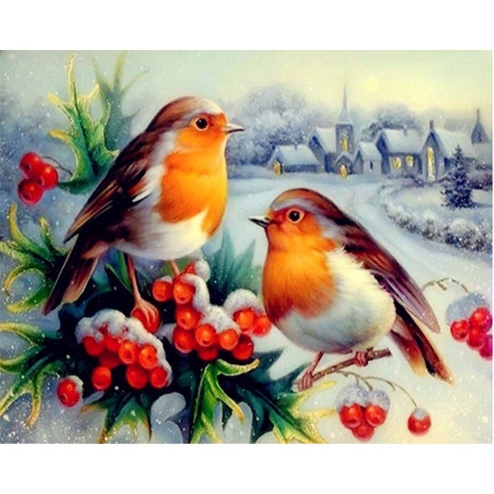5D Diamond Painting, Winkey DIY Embroidery Pictures Full Dril Diamond Painting Kits Arts Crafts for Home Wall Decor (Birds)