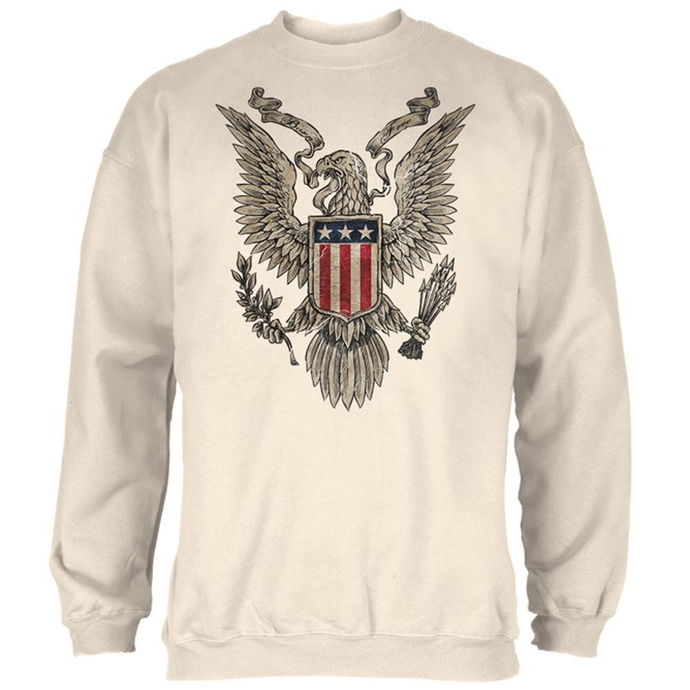 4th July Born Free Vintage American Bald Eagle Mens Sweatshirt