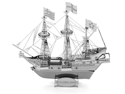 Golden Hind Metal Earth Gold