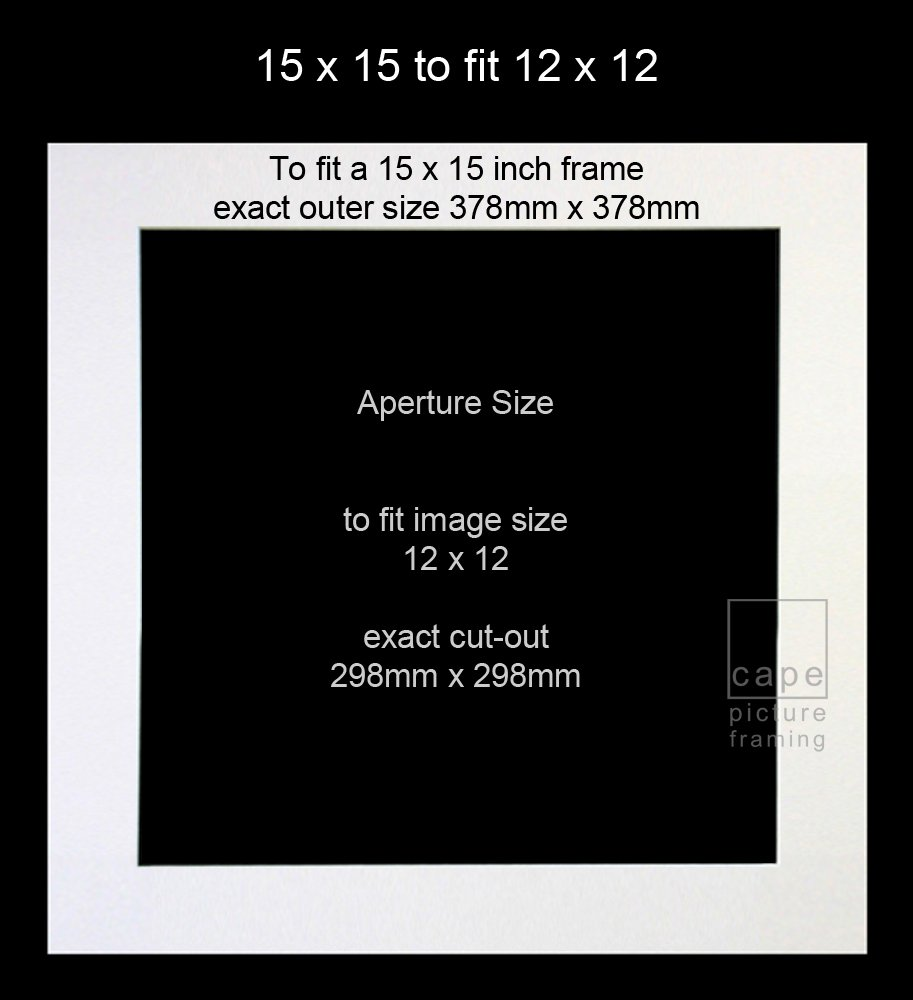 Pack of 1 single square picture mount 15 x 15 to fit 12 x 12 pack of 1 single square picture mount 15 x 15 to fit 12 x 12 soft whiteoff white amazon kitchen home jeuxipadfo Gallery