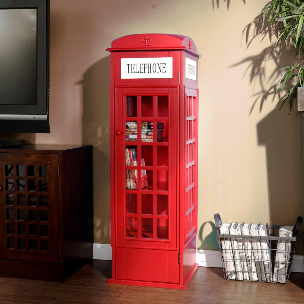 View larger - Amazon.com: SEI Phone Booth Cabinet: Kitchen & Dining