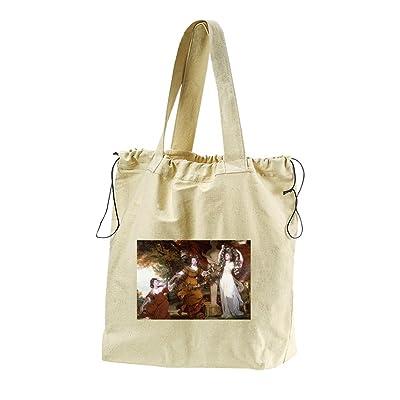 3 Ladies Adorning Term Hymen (Reynolds) Canvas Drawstring Beach Tote Bag