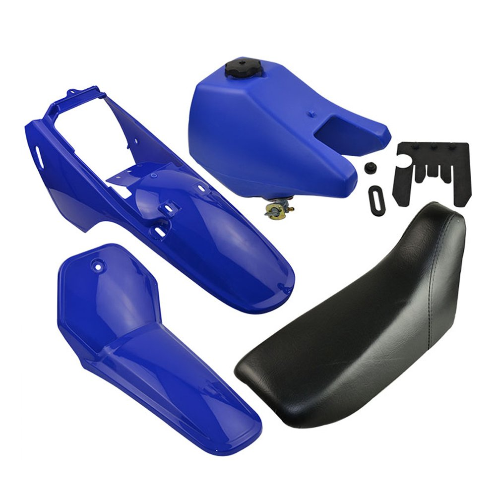 FLYPIG Plastic Gas Tank Kit for Yamaha PW80 PW 80 Blue