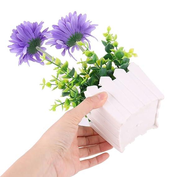 Amazon.com: eDealMax Mesa comedor Craft alféizar turística Flor de la planta en maceta Artificial ornamento: Home & Kitchen
