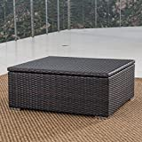 Christopher Knight Home Costa Mesa Outdoor Multibrown Wicker Coffee Table with Storage
