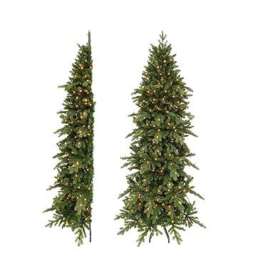 Weihnachtsbaum Künstlich Schmal.Triumph Tree 215 Cm Halber Künstlicher Weihnachtsbaum Emerald Grün