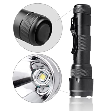 BESTSUN LED Tactical Flashlight with Rechargeable 18650 Lithium Ion Battery /& Charger High Lumen Portable Ultra Bright Handheld LED Flashlight with 5 Light Modes Zoomable Waterproof