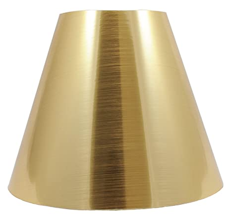 Urbanest metallic hardback chandelier lamp shade 3 inch by 6 inch by 5