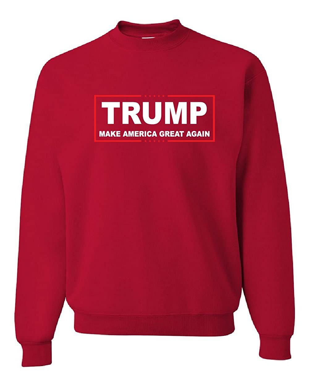 Amazon.com: TRUMP Crew Neck Sweatshirt Make America Great Again ...