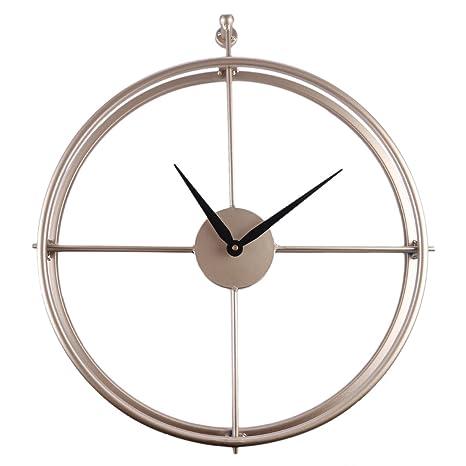 YAHAMA Reloj de Pared Metalico Grande Reloj de Pared Vintage Grande Estilo Europeo- 52 x