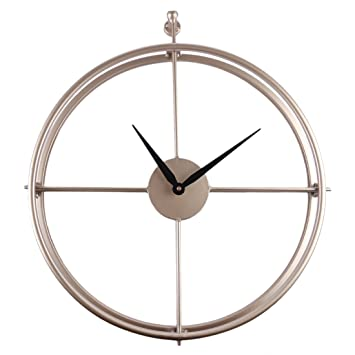 YAKOK 52CM Grande Metal Reloj Pared Vintage Silencioso Reloj de Pared Decorativo para Cocina Salon Dormitorio Oficina Escuela Hotel Cafeteria Bar (Dorado): ...