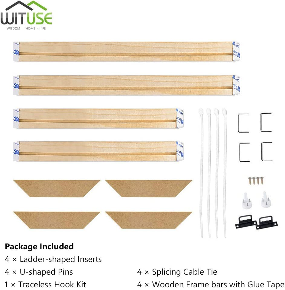 12x18 WITUSE Wood Stretcher Bars Painting Canvas Wooden Frame for Gallery Wrap Oil Painting,Stretcher Bars DIY,Canvas Mounting Frames,Needlepoint Arts