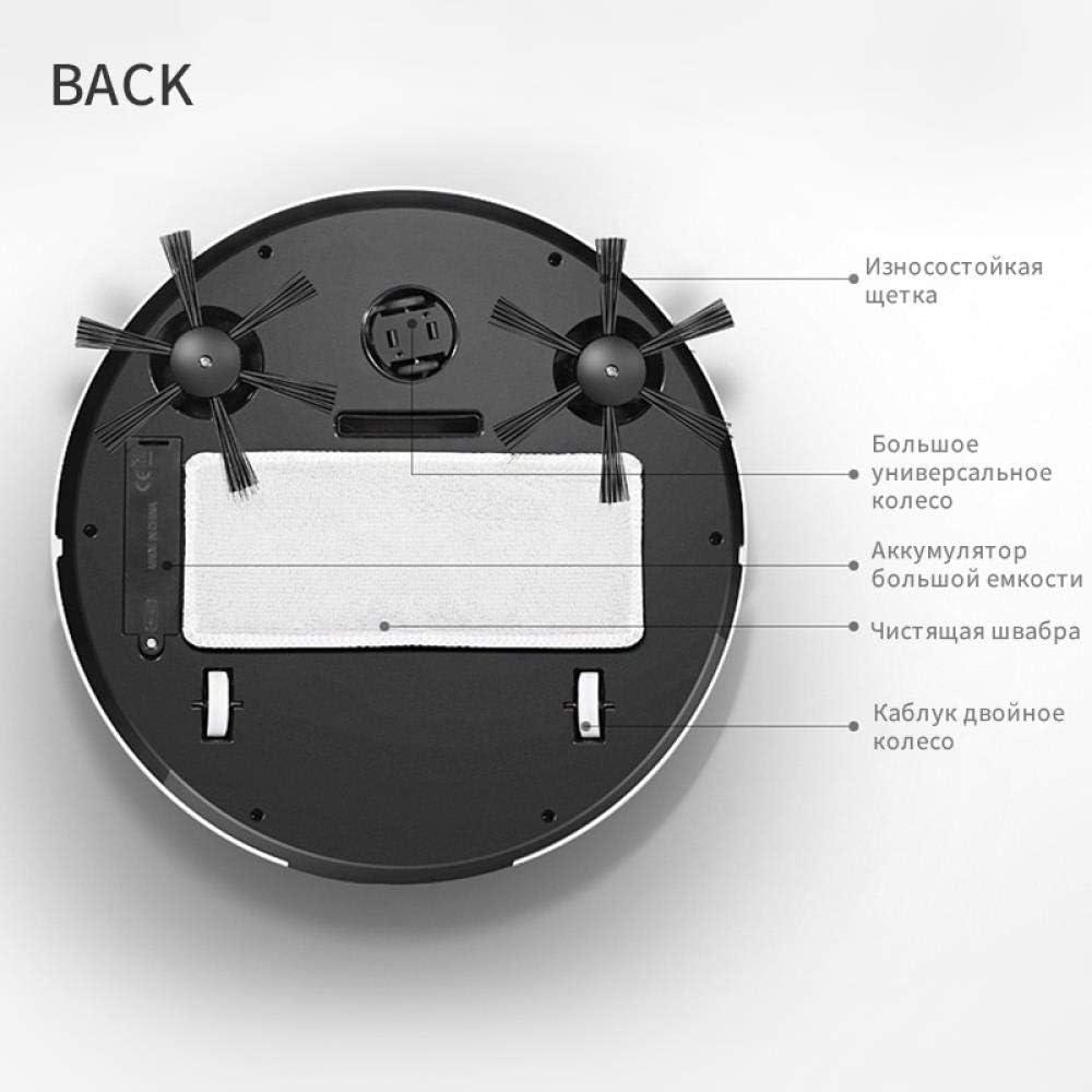 BYBYC Robot de Balayage Intelligent, Robots de Nettoyage de Vide de Balayage intelligents de Nettoyage USB, Nettoyage Domestique des Tapis, Version WhitUpgraded Blanc