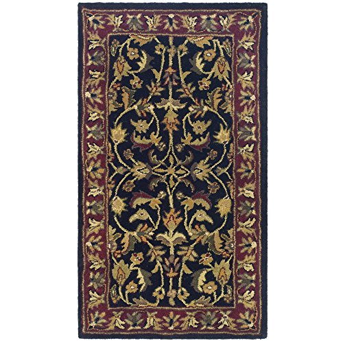 Safavieh Heritage Collection HG953A Handcrafted Traditional Oriental Black and Red Wool Area Rug (2'3