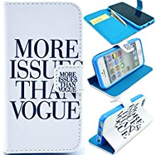 Buddycover Flip Leather Case for Apple iPhone 5C Wallet Book Style Cover Stand Holder Phone Bag(A-More)