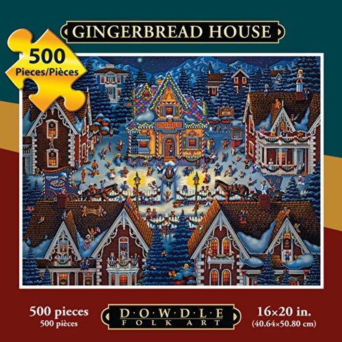 Dowdle Folk Art Gingerbread House Jigsaw Puzzle