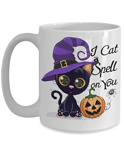 Amazon Com Halloween Funny Mug Black Cat Cup Cat Lover Gift Cute