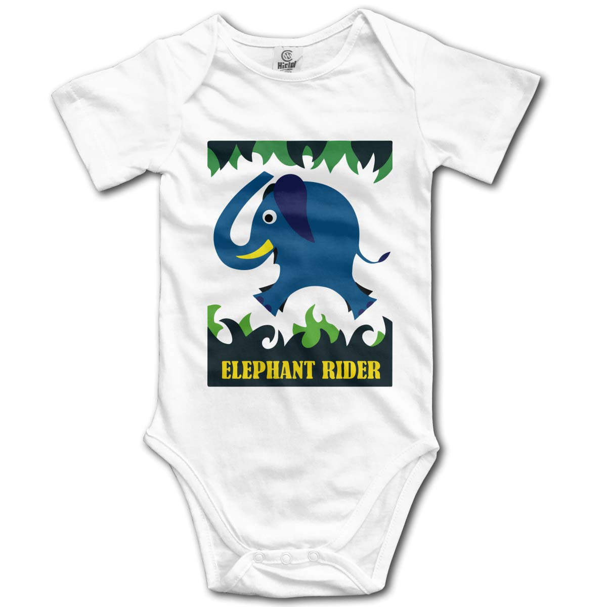 Elephant Rider Newborn Infant Baby 100/% Organic Cotton Romper Bodysuit Tops 0-24M