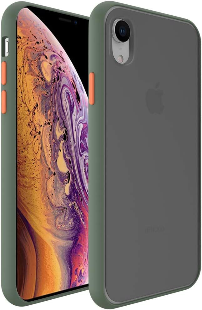 InUnion Protective Case for iPhone Xr case with PC Back and Soft TPU Bumper Compatible with iPhone Xr 6.1 Inch - Sage