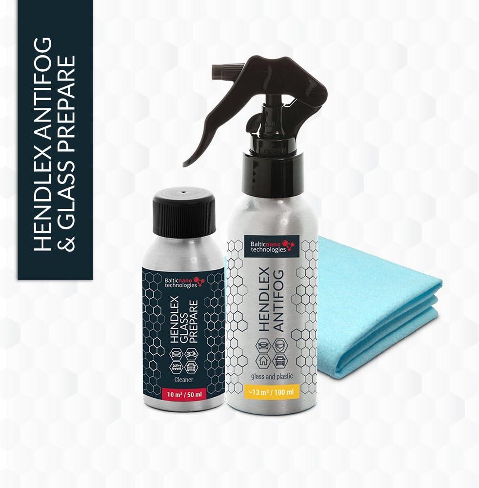 Spray Hendlex Nano Antivaho y anti condensación para todo tipo de materiales como cristales, plastico, espejos de baño, etc. 100ml con Hendlex Nano preparador 50ml