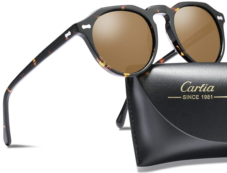 Carfia Vintage Round Polarised Sunglasses for Women 100% UV400 Protection