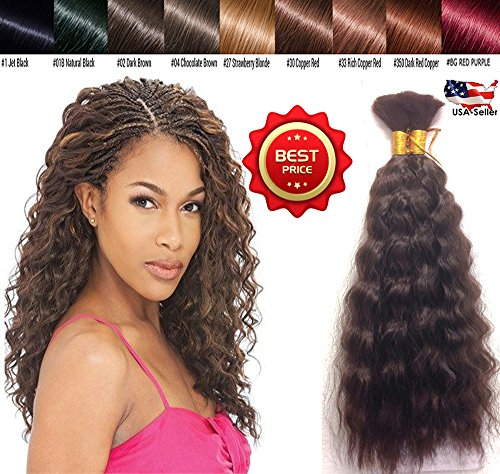 Hot selling Wet N Wavy Bulk hair, Top Quality Synthetic Fibers, Bulk Hair for Micro Braiding or Crochet Braiding, Super Bulk Style 2 Packs (4 Bundles) Deal, Length 18 Inch Color Dark Brown #2 (Best Wet N Wavy Braiding Human Hair)
