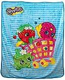 Shopkins Shopping Basket Characters Plush Throw Blanket - Kids
