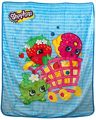 Shopkins Shopping Basket Characters Plush Throw Blanket