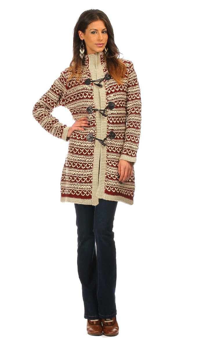 Maille Love - Cardigan NETTLE - Women - S/M - Beige by Maille Love (Image #1)