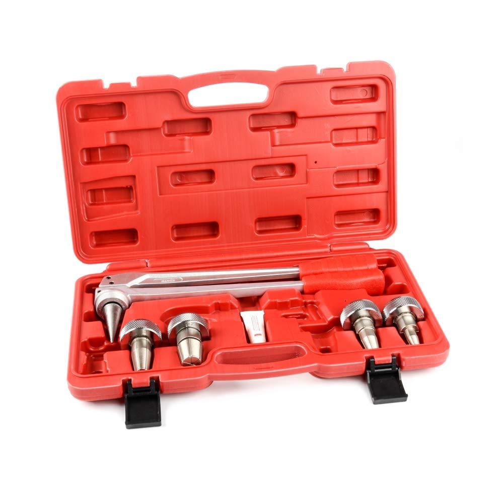 Iwiss Tubo de PEX de expansión Manual herramienta Kits con 16 mm, 20 mm, 25 mm y 32 mm Expansión Jefes Matched Uponor y Milwaukee herramientas (2 colores ...