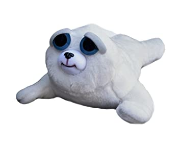 Feisty Pets Tony Tubbalard- Adorable Plush Stuffed Harp Seal Pup that Turns Feisty with a