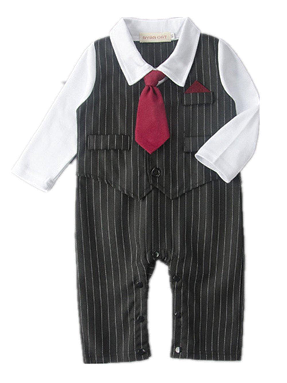 De la boda de la Anik soleado diseño de nacimiento de un niño globo con forma de esmoquin chaleco de pesca y accesorios para aprendices, Formal de nacimiento de un niño corbata diseño de rayas de equipo de costura para chalecos de muñeca con vestido de neg