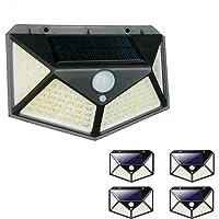 Luminaria Solar Kit com 5 Unidades Sensor de Movimento 3 Funçoes Lampada Presença Parede LED Prova d'Agua Iluminaçao