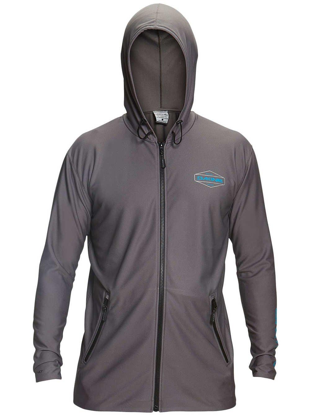 2XL Dakine Mens H2O-Man Front Zip Hoodie Shirt Gunmetal