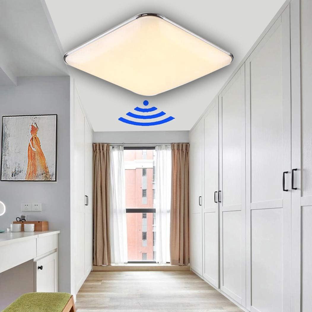 DIWIWON 24W Blanco cálido LED Plafón con Sensor de Movimiento ...