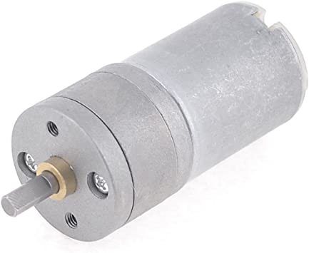 600RPM 4mm Shaft Dia Electric Power Gearbox Geared Motor 12VDC