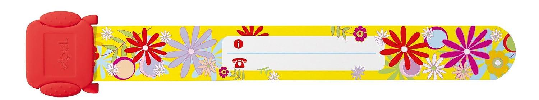 Sigel ID008 Kinder-Sicherheits-Armband zum Beschriften, Blumen, 19,7 cm lang, 10 Stück