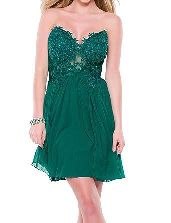 Homecoming Dress Lace Party Dress Chiffon Cocktail Dress Empire Waist A line