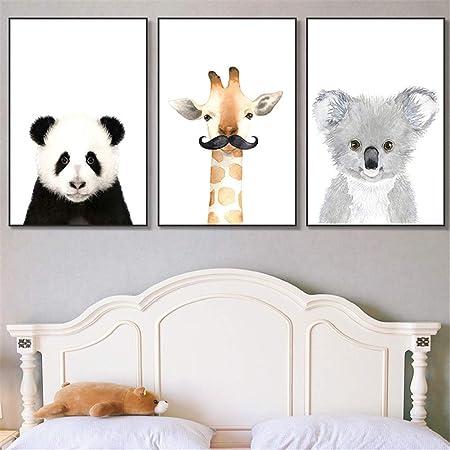 Waldtiere Tierposter Dekoration Bild Junge M/ädchen Poster DIN A4 ohne Rahmen Martin Kench 6er Set Bilder Tiere Kinderzimmer Babyzimmer Deko