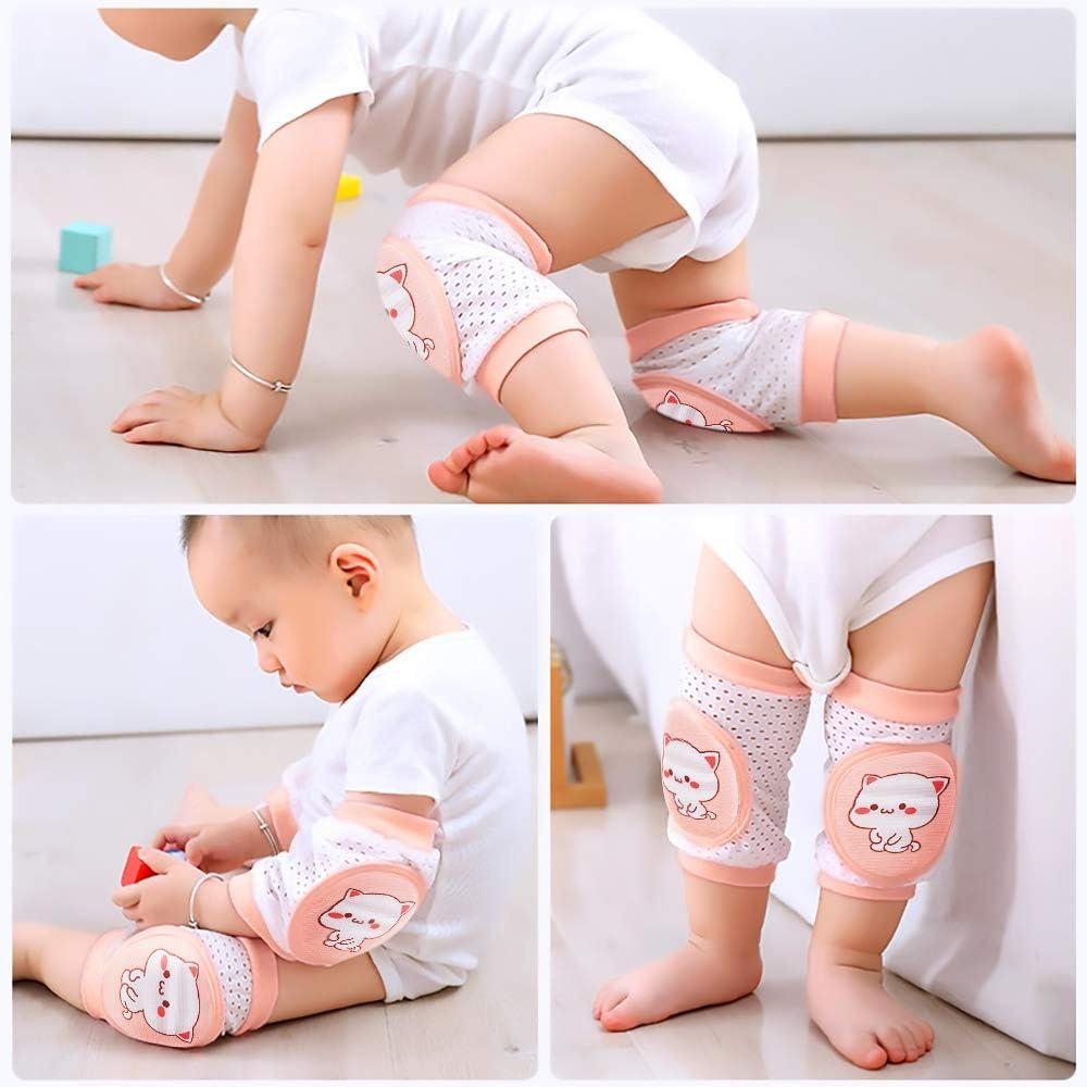 Mode Neu Baby Krabbelnd Knieschützer Sicherheit Rutschfeste Laufen Bein Ellbogen