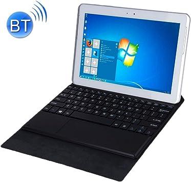 Estuche para Teclado Sunzimeng Bluetooth Keyboard Matte Texture Funda de Cuero con Soporte for 10.1 Pulgadas Windows 7/8/10 Tablet PC (Negro) (Color : Black): Amazon.es: Electrónica